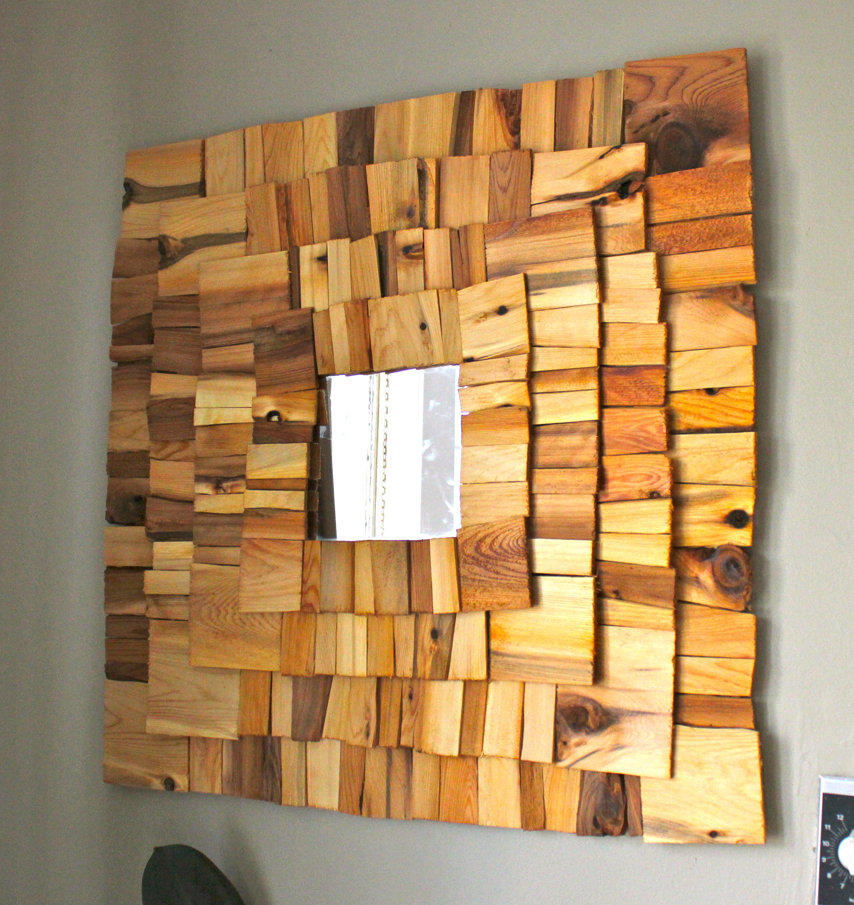 Our Crafty Home Wood Shingle Accent Mirror