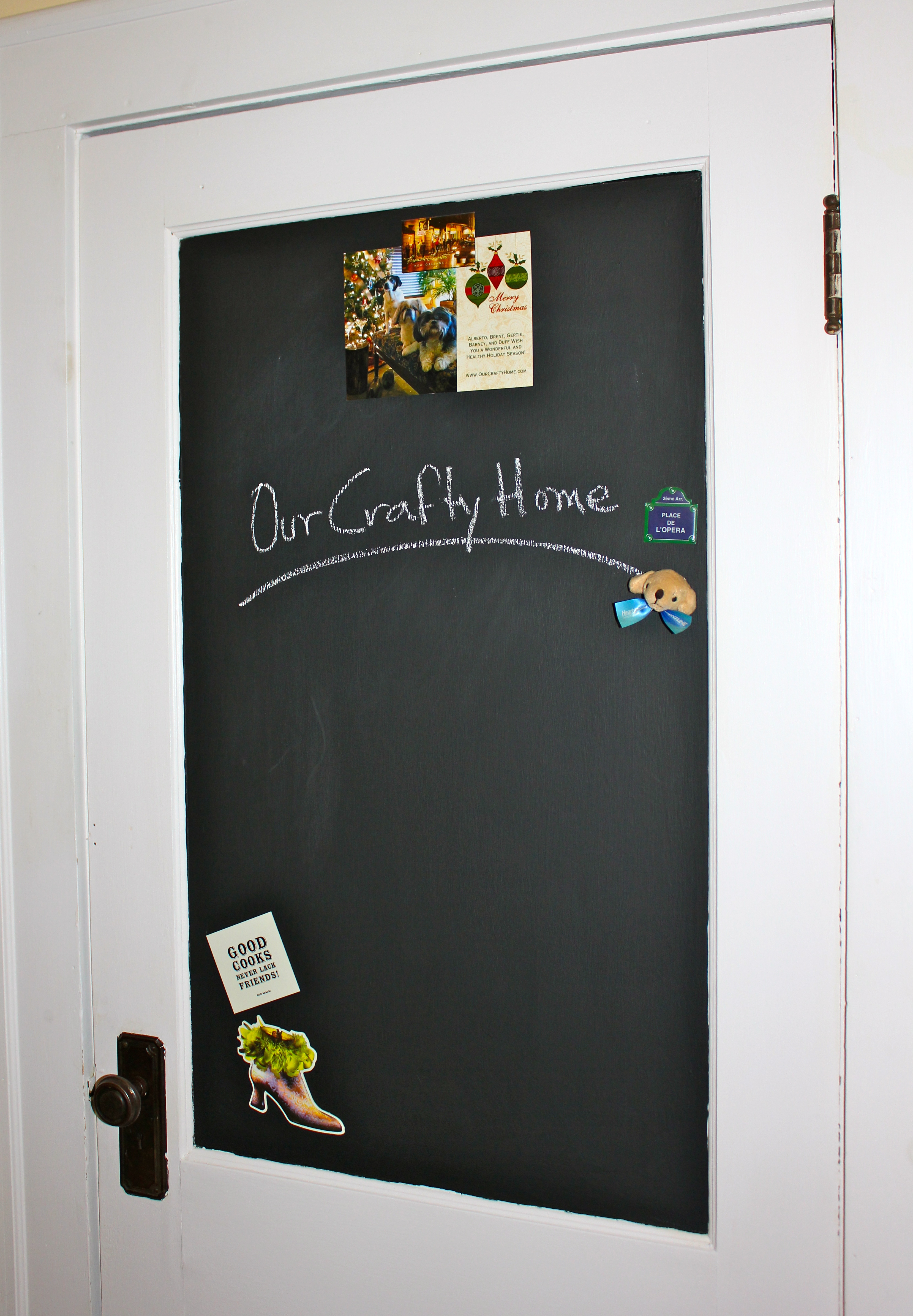 Like ... & Our Crafty Home | Magnetic Chalkboard Door Pezcame.Com